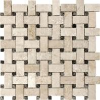 Anatolia Uptown Stone Ivory Basketweave Mosaic Tile ACNS323