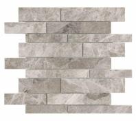 Anatolia Uptown Stone Polished Phantasie Gray Random Strip Interlocking Tile AC76-428
