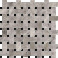 Anatolia Uptown Stone Polished Phantasie Gray Basketweave Tile AC76-429