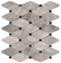 Anatolia Uptown Stone Polished Phantasie Gray Clipped Diamond Mosaic AC76-431