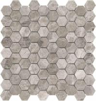 Anatolia Uptown Stone Polished Phantasie Gray Hex Mosaic AC76-430