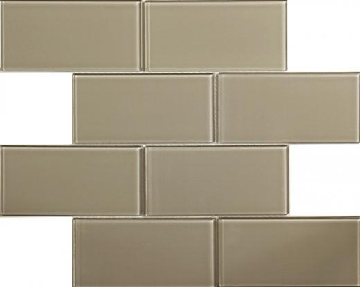 Blocco Series Warm Grey Glass Tile MD44