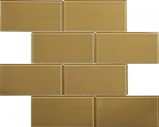 Blocco Series Olive Martini Glass Tile MD38