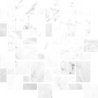 Anatolia Uptown Stone Bianco Venatino Polish Versailles Mosaic ACNS049