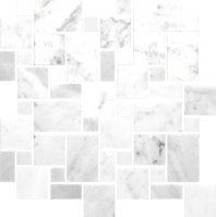 Anatolia Uptown Stone Bianco Venatino Honed Versailles Mosaic ACNS029