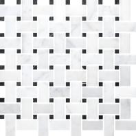 Anatolia Uptown Stone Bianco Venatino Honed Basketweave Tile ACNS027