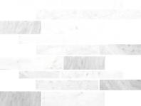 Anatolia Uptown Stone Bianco Venatino Polish Random Interlocking Mosaic ACNS048