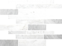Anatolia Uptown Stone Bianco Venatino Honed Random Interlocking Mosaic ACNS028