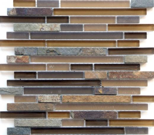 Eleganza Mesa Brick Interlocking Mosaic Tile GL3172