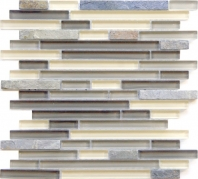 Eleganza Tempe Brick Interlocking Mosaic Tile GL3174
