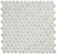 Polka Dot Series PLK61- Jasmine Delight Marble Look Penny Round Tile