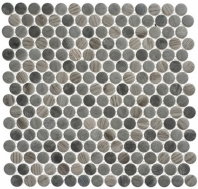 Polka Dot Series PLK62- Umbel Grey Wood Look Penny Round Tile