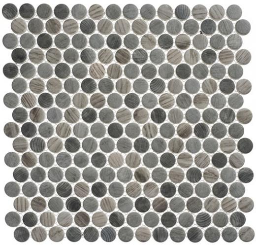 Polka Dot Series PLK Umbel Grey Wood Look Penny Round Tile HDAZ - Cheap penny round tile