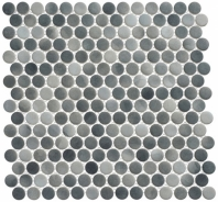 Polka Dot Series PLK65- Ombre Reef Penny Round Tile