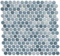 Polka Dot Series PLK66- Seashore Waves Penny Round Tile