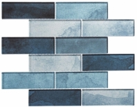Westminster Series WM772- Blue Jubilee Interlocking Glass Tile