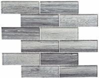 Westminster Series WM777- English Grey Wood Look Interlocking Glass Tile
