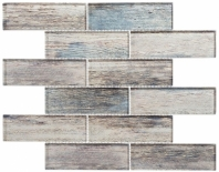 Westminster Series WM778- Palace Teak Wood Look Interlocking Glass Tile