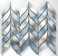 Martini Mosaic Tesseva Series Glacial Stream Chevron Backsplash MV04