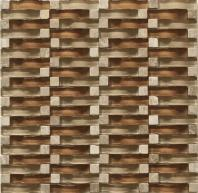 Vento Series Chestnut Beach Glass Tile MCGB06
