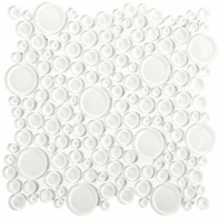 Loft Super White Circles Glass Tile by Soho Studio LFTGLCRCLSPRWH