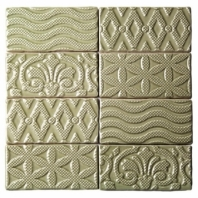 Masia Jewel Olive 3x6 Ceramic Subway Tile by Soho Studio MASJWL3X6OLIVE