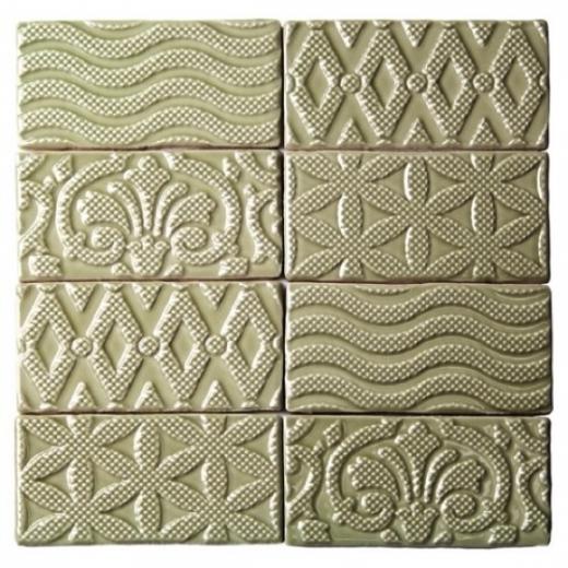 Masia Jewel Olive 3x6 Ceramic Subway Tile by Soho Studio MASJWL3X6OLIVE