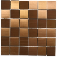 Brush Metal Copper 2x2 Metal Tile by Soho Studio METSQCPR