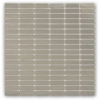 Brush Metal Stainless 1/2x2 Stacked Metal Tile by Soho Studio METSTKSTNLS