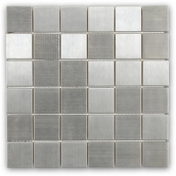 Brush Metal Stainless 2x2 Metal Tile by Soho Studio METSQSTNLS