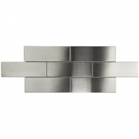 Brush Metal Stainless 2x6 Metal Tile by Soho Studio METSBWY