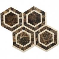 Metrology Dark Emperador Hexagon Tile by Soho Studio METGDKEMPCRM