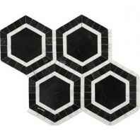 Metrology Nero Hexagon Tile by Soho Studio METGNEROASN