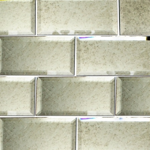 Mirror Antique Beveled Mirror Subway Tile Soho Studio