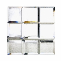 Mirror Antique 4x4 Beveled Mirror Tile by Soho Studio MRRANTQ4X4BEV