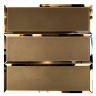 Mirror Bronze 4x12 Mirror Subway Tile by Soho Studio MRRBRNZ4X12BEV