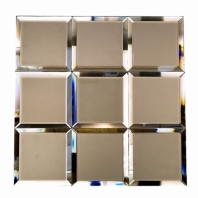 Mirror Bronze 4x4 Beveled Mirror Tile by Soho Studio MRRBRNZ4X4BEV