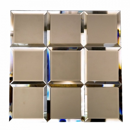 Mirror Bronze 4x4 Beveled Tile By Soho Studio Mrrbrnz4x4bev