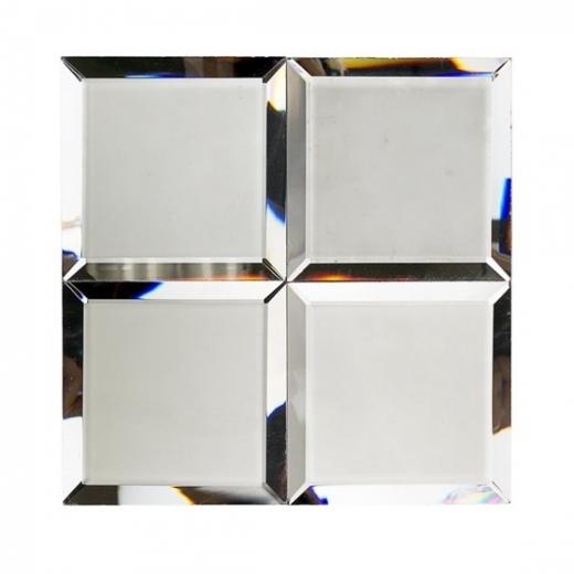 Mirror Dark Gray 4x4 Beveled Tile By Soho Studio Mrrdkgry4x4bev