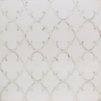 Rabat White Thassos Mother of Pearl Arabesque Tile by Soho Studio MJRABATWTHSPRL