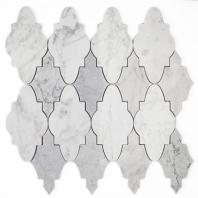 Sabino Light Carrara and Dark Carrara Arabesque Tile by Soho Studio MJSABLCARDCAR