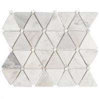 Trio Asian Statuary w/ Pearl Dot Mosaic Tile by Soho Studio MJTRIOPRLDTAST