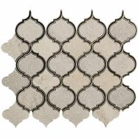 Vision Lantern White Quartz Arabesque Tile by Soho Studio MJVSLTNWHQZANMR
