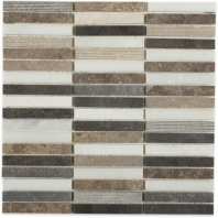 Surface Tech Brick Bucaramanga Gray Stacked Mosaic by Soho Studio SRFBRKBUCGRY