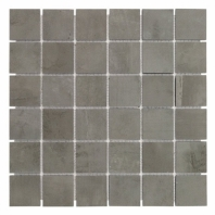 Syncro Dark Natural 2x2 Mosaic Tile by Soho Studio TLCNTSYNDAR2X2