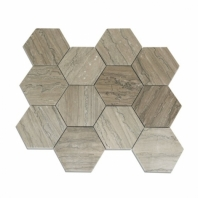 Tennessee Taupe 4 inch Hexagon Tile by Soho Studio TENTAUP4INHEXPOL