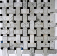 Trenza Carrera Black Dot Basketweave Tile by Soho Studio TRENWTCRBLK