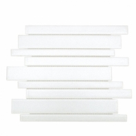 Uptown Glass White Planks Interlocking Tile by Soho Studio UPGLSPLNKBRTWHT