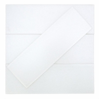 Uptown Glass Pearl White Subway Tile by Soho Studio UPGLSPRLBRTWT4X12