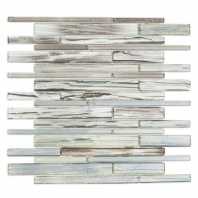 Uptown Glass Railroad Shadow Planks Interlocking Tile by Soho Studio UPGLSRRSHDWPLNK